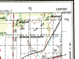 Reduced fragment of topographic map en--usgs--250k--068674--(1954)--N033-00_W102-00--N032-00_W100-00 in area of Lake J.b. Thomas, Lake Colorado City, Oak Creek Reservoir; towns and cities Big Spring, Snyder, Lamesa, Sweetwater, Los Ybanez