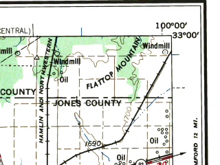 Reduced fragment of topographic map en--usgs--250k--068674--(1958)--N033-00_W102-00--N032-00_W100-00 in area of Lake J.b. Thomas, Lake Colorado City, Oak Creek Reservoir; towns and cities Big Spring, Snyder, Lamesa, Sweetwater, Roby
