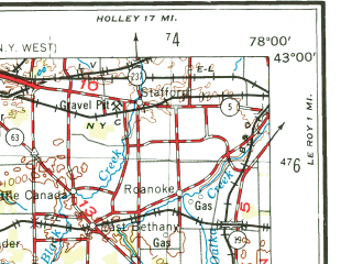 Reduced fragment of topographic map en--usgs--250k--068695--(1962)--N043-00_W080-00--N042-00_W078-00; towns and cities Buffalo, Jamestown, Cheektowaga, Port Colborne, Lackawanna