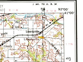 Reduced fragment of topographic map en--usgs--250k--068706--(1954)--N041-00_W094-00--N040-00_W092-00; towns and cities Kirksville, Trenton, Centerville, South Gifford, Edina