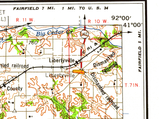 Reduced fragment of topographic map en--usgs--250k--068706--(1958)--N041-00_W094-00--N040-00_W092-00; towns and cities Kirksville, Trenton, Centerville, Newtown, Weldon