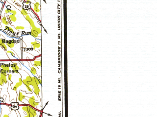 Reduced fragment of topographic map en--usgs--250k--068719--(1950)--N042-00_W082-00--N041-00_W080-00; towns and cities Cleveland, Akron, Youngstown, Sharon, Lakewood