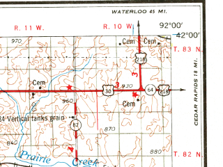Reduced fragment of topographic map en--usgs--250k--068746--(1969)--N042-00_W094-00--N041-00_W092-00; towns and cities Des Moines, West Des Moines, Ottumwa, Urbandale, Oskaloosa