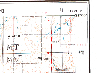 Reduced fragment of topographic map en--usgs--250k--068751--(1955)--N038-00_W102-00--N037-00_W100-00; towns and cities Garden City, Dodge City, Liberal, Ulysses, Satanta