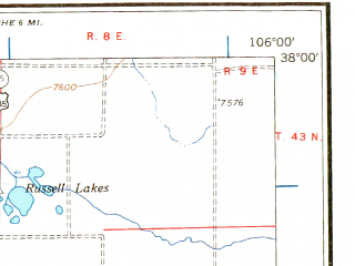 Reduced fragment of topographic map en--usgs--250k--068759--(1966)--N038-00_W108-00--N037-00_W106-00 in area of San Juan, Vallecito Reservoir, Rio Grande Reservoir; towns and cities Durango, Antonito, Silverton, Bayfield