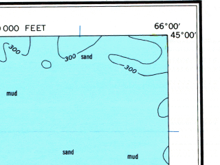 Reduced fragment of topographic map en--usgs--250k--068762--(1961)--N045-00_W068-00--N044-00_W066-00 in area of Cobscook Bay, Machias Bay, Western Passage; towns and cities North Head, Seal Cove, Eastport