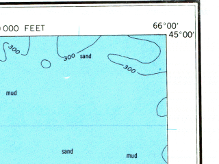 Reduced fragment of topographic map en--usgs--250k--068762--(1969)--N045-00_W068-00--N044-00_W066-00 in area of Cobscook Bay, Machias Bay, Western Passage; towns and cities Seal Cove, Eastport, Welshpool