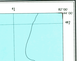 Reduced fragment of topographic map en--usgs--250k--068779--(1954)--N044-00_W084-00--N043-00_W082-00 in area of Cass, Saginaw; towns and cities Saginaw, Flint, Bay City, Beecher, Buena Vista