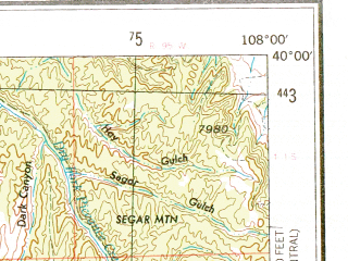 Reduced fragment of topographic map en--usgs--250k--068800--(1956)--N040-00_W110-00--N039-00_W108-00; towns and cities Grand Junction, Clifton, Redlands, Fruitvale, Battlement Mesa