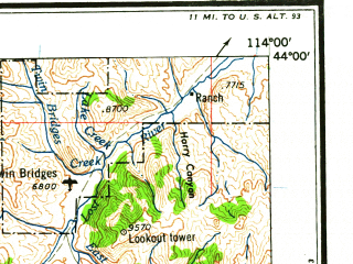 Reduced fragment of topographic map en--usgs--250k--068812--(1962)--N044-00_W116-00--N043-00_W114-00 in area of North Fk. Boise, South Fk. Boise, North Fk. Big Lost; towns and cities Mountain Home, Mountain Home Afb, Placerville, Hailey, Richfield