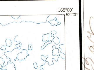 Reduced fragment of topographic map en--usgs--250k--068826--(1951)--N062-00_W168-00--N061-00_W165-00 in area of Hooper Bay, Kokechik, Apherwn; towns and cities Chevak, Hooper Bay, Scammon Bay