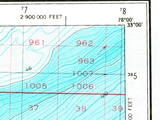 Reduced fragment of topographic map en--usgs--250k--068841--(1969)--N033-00_W080-00--N032-00_W078-00; towns and cities Charleston, Goose Creek, Mount Pleasant, Folly Beach, Isle Of Palms