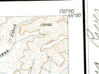 Reduced fragment of topographic map en--usgs--250k--068852--(1948)--N065-00_W153-00--N064-00_W150-00 in area of Wien Lake, West Twin Lake, East Twin Lake; towns and cities Manley Hot Springs