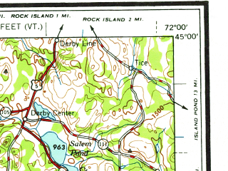 Reduced fragment of topographic map en--usgs--250k--068864--(1958)--N045-00_W074-00--N044-00_W072-00 in area of Winooski, Saranac, Upper Chateaugay Lake; towns and cities Burlington, Montpelier, Plattsburgh, South Burlington, St. Albans