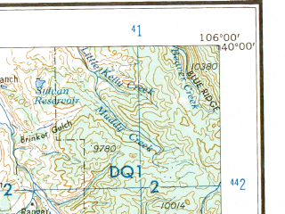 Reduced fragment of topographic map en--usgs--250k--068870--(1959)--N040-00_W108-00--N039-00_W106-00 in area of South Fk. White, Dillion Reservoir, Turquoise Lake; towns and cities Glenwood Springs, Aspen, Carbondale, New Castle, Vail