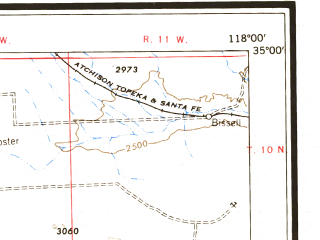 Reduced fragment of topographic map en--usgs--250k--068882--(1955)--N035-00_W120-00--N034-00_W118-00 in area of Rosamond Lake (dry), Lake Cachuma, Castaic Lake; towns and cities Los Angeles, Oxnard, Santa Barbara, Pasadena, Santa Clarita