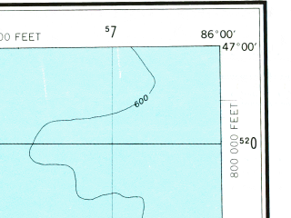 Reduced fragment of topographic map en--usgs--250k--068892--(1968)--N047-00_W088-00--N046-00_W086-00 in area of Dead Storage Basin, Silver Lake; towns and cities Marquette, Ishpeming, K. I. Sawyer Afb, Munising, Trowbridge Park