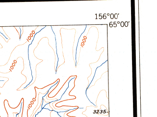 Reduced fragment of topographic map en--usgs--250k--068939--(1951)--N065-00_W159-00--N064-00_W156-00; towns and cities Galena, Kaltag, Koyukuk