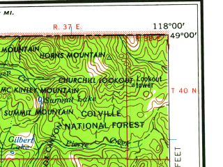 Reduced fragment of topographic map en--usgs--250k--068946--(1958)--N049-00_W120-00--N048-00_W118-00 in area of Sanpoil, Omak Lake, Palmer Lake; towns and cities Tonasket, North Omak, Brewster