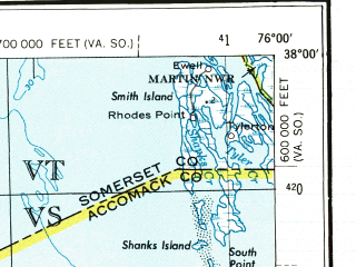 Reduced fragment of topographic map en--usgs--250k--068987--(1973)--N038-00_W078-00--N037-00_W076-00 in area of York, Mobjack Bay, Mattaponi; towns and cities Richmond, Newport News, Hampton, Tuckahoe, Hopewell
