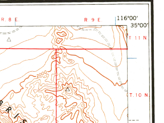 Reduced fragment of topographic map en--usgs--250k--069012--(1959)--N035-00_W118-00--N034-00_W116-00 in area of Rogers Lake (dry); towns and cities San Bernardino, Ontario, Pomona, Baldwin Park, Upland