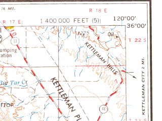 Reduced fragment of topographic map en--usgs--250k--069015--(1958)--N036-00_W122-00--N035-00_W120-00 in area of Nacimiento Reservoir, San Antonio Reservoir, Arroyo Grande Creek; towns and cities San Luis Obispo, Atascadero, Paso Robles, Grover Beach, Arroyo Grande