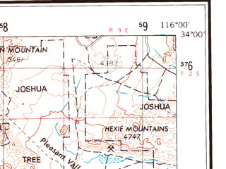 Reduced fragment of topographic map en--usgs--250k--069016--(1959)--N034-00_W118-00--N033-00_W116-00; towns and cities Riverside, Anaheim, Santa Ana, Orange, Irvine