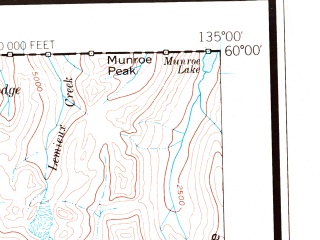 Reduced fragment of topographic map en--usgs--250k--069034--(1961)--N060-00_W138-00--N059-00_W135-00 in area of Chilkat Lake, Chilkat, Tatshenshini; towns and cities Mosquito Lake, Porcupine (abandoned), Skagway
