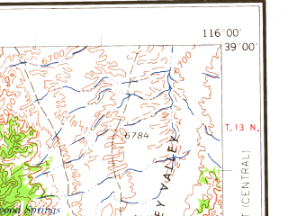 Reduced fragment of topographic map en--usgs--250k--069055--(1962)--N039-00_W118-00--N038-00_W116-00; towns and cities Tonopah, Gabbs