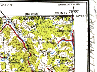 Reduced fragment of topographic map en--usgs--250k--069099--(1954)--N042-00_W078-00--N041-00_W076-00; towns and cities Williamsport, Berwick, Bloomsburg, Sayre, Milton