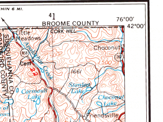 Reduced fragment of topographic map en--usgs--250k--069099--(1966)--N042-00_W078-00--N041-00_W076-00; towns and cities Williamsport, Berwick, Bloomsburg, Sayre, Milton