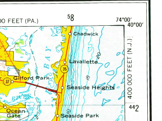 Reduced fragment of topographic map en--usgs--250k--069102--(1972)--N040-00_W076-00--N039-00_W074-00; towns and cities Philadelphia, Atlantic City, Vineland, Wilmington, Dover