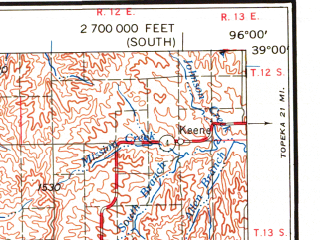 Reduced fragment of topographic map en--usgs--250k--072229--(1959)--N039-00_W098-00--N038-00_W096-00 in area of Marion Lake, Council Grove Lake; towns and cities Hutchinson, Emporia, Salina, Newton, Mcpherson