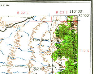 Reduced fragment of topographic map en--usgs--250k--072241--(1959)--N032-00_W112-00--N031-00_W110-00; towns and cities Sierra Vista, Nogales, Green Valley, Agua Zarca, Sierra Vista Southeast