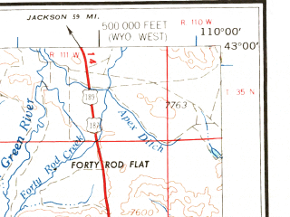 Reduced fragment of topographic map en--usgs--250k--072243--(1962)--N043-00_W112-00--N042-00_W110-00 in area of Fontenelle Reservoir, Chesterfield Reservoir, Alexander Reservoir; towns and cities Afton, Soda Springs, Montpelier