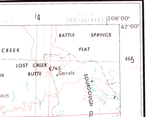 Reduced fragment of topographic map en--usgs--250k--072244--(1954)--N042-00_W110-00--N041-00_W108-00; towns and cities Rock Springs, Green River, North Rock Springs, Granger, Superior