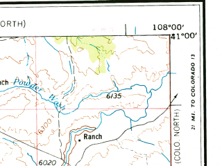 Reduced fragment of topographic map en--usgs--250k--072253--(1954)--N041-00_W110-00--N040-00_W108-00 in area of Green, Green, Red Fleet Reservoir; towns and cities Vernal, Fort Duchesne, Randlett, Rangely