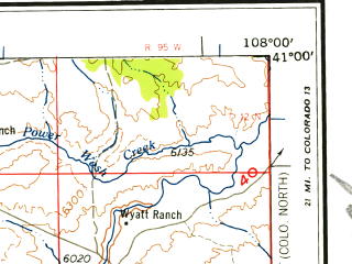 Reduced fragment of topographic map en--usgs--250k--072253--(1958)--N041-00_W110-00--N040-00_W108-00 in area of Green, Green, Red Fleet Reservoir; towns and cities Vernal, Dinosaur, Naples, Fort Duchesne