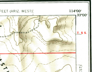 Reduced fragment of topographic map en--usgs--250k--074959--(1954)--N033-00_W116-00--N032-00_W114-00 in area of Mittry Lake; towns and cities Mexicali, Yuma, El Centro, Brawley, Calexico
