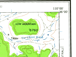 Reduced fragment of topographic map en--usgs--250k--074970--(1962)--N036-00_W112-00--N035-00_W110-00 in area of Little Colorado, Lake Mary; towns and cities Flagstaff, Winslow, Keams Canyon, Kykotsmovi Village, Leupp