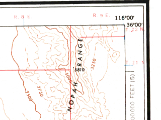 Reduced fragment of topographic map en--usgs--250k--074973--(1960)--N036-00_W118-00--N035-00_W116-00 in area of Searles Lake (dry), Coyote Lake (dry), Harper Lake (dry); towns and cities Ridgecrest, California City, Searles Valley, North Edwards, Boron