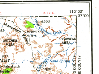 Reduced fragment of topographic map en--usgs--250k--074978--(1961)--N037-00_W112-00--N036-00_W110-00 in area of Moenkopi Wash; towns and cities Tuba City, Kaibito, Kayenta, Moenkopi