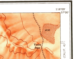 Reduced fragment of topographic map en--usgs--250k--074981--(1956)--N037-00_W118-00--N036-00_W116-00 in area of Haiwee Reservoir; towns and cities Pahrump, Beatty