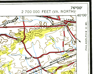 Reduced fragment of topographic map en--usgs--250k--074996--(1954)--N040-00_W078-00--N039-00_W076-00; towns and cities Baltimore, York, Hagerstown, Dundalk, Silver Spring