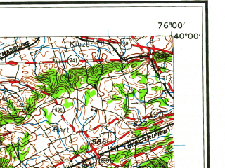 Reduced fragment of topographic map en--usgs--250k--074996--(1961)--N040-00_W078-00--N039-00_W076-00; towns and cities Baltimore, York, Hagerstown, Dundalk, Wheaton-glenmont