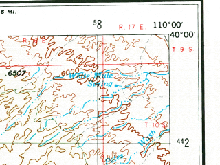 Reduced fragment of topographic map en--usgs--250k--074997--(1956)--N040-00_W112-00--N039-00_W110-00 in area of Price, Huntington Creek, Ferron Creek; towns and cities Price, Scofield, Cleveland, Mona