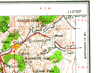 Reduced fragment of topographic map en--usgs--250k--074998--(1962)--N040-00_W114-00--N039-00_W112-00 in area of Clear Lake; towns and cities Hinckley, Holden, Leamington