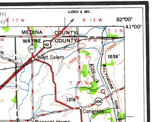 Reduced fragment of topographic map en--usgs--250k--075002--(1962)--N041-00_W084-00--N040-00_W082-00; towns and cities Mansfield, Marion, Gahanna, Delaware, Ashland