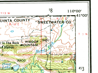 Reduced fragment of topographic map en--usgs--250k--075004--(1954)--N041-00_W112-00--N040-00_W110-00 in area of Utah Lake, Strawberry Reservoir, Strawberry; towns and cities Salt Lake City, Provo, Taylorsville, Orem, Sandy