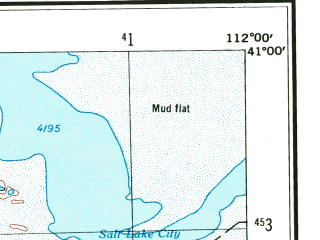 Reduced fragment of topographic map en--usgs--250k--075005--(1953)--N041-00_W114-00--N040-00_W112-00; towns and cities West Valley City, Kearns, Magna, Tooele, Oquirrh